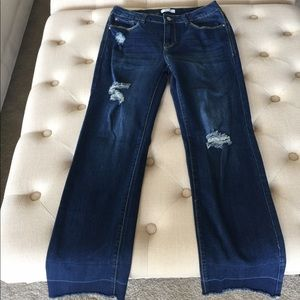 Kensie Distressed Denim Jeans 2